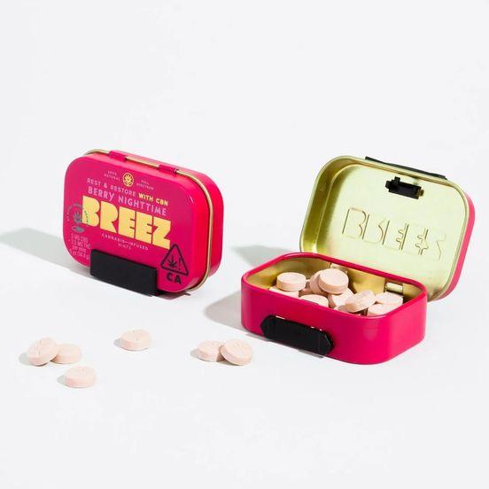Breez Berry Nighttime Mints (100 MG THC + 200 MG CBD)