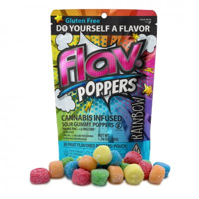 RAINBOW POPPERS, Edible, 100mg - Flav