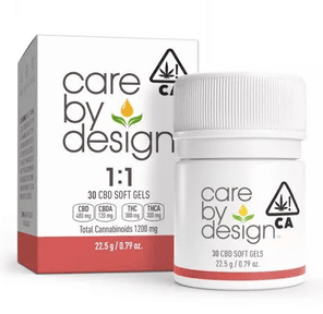 [Care By Design] CBD Soft Gels - 1:1 - 30ct