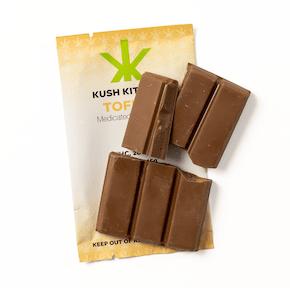 200mg Milk Chocolate & Toffee Bar by Kush Kitchen