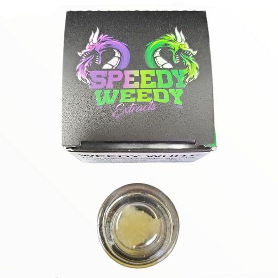 1. Speedy Weedy 1g Cured Resin Sauce - Space Jam - 3/$60 Mix/Match
