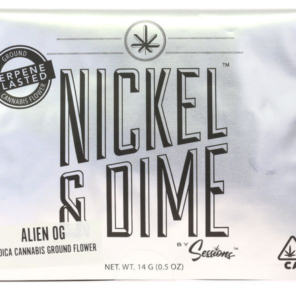 A. Sessions Nickel & Dime 14g Pre Ground Flower - Rollex OG (~15%)