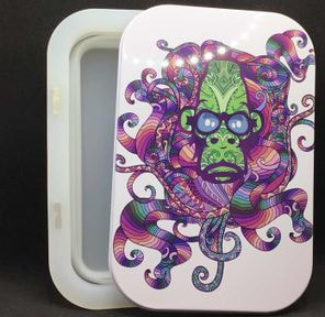 Alien Ape Foldable Stash Jar Tray Purple