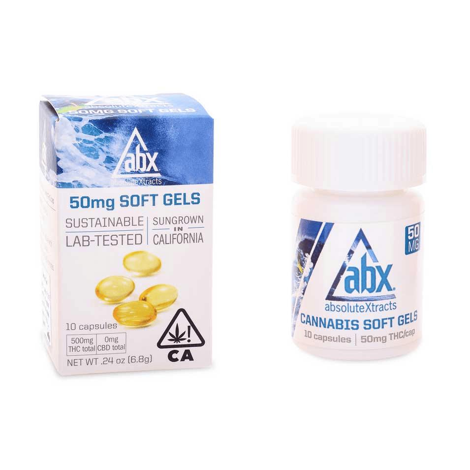 ABX Soft Gels 50mg THC (20 capsules)