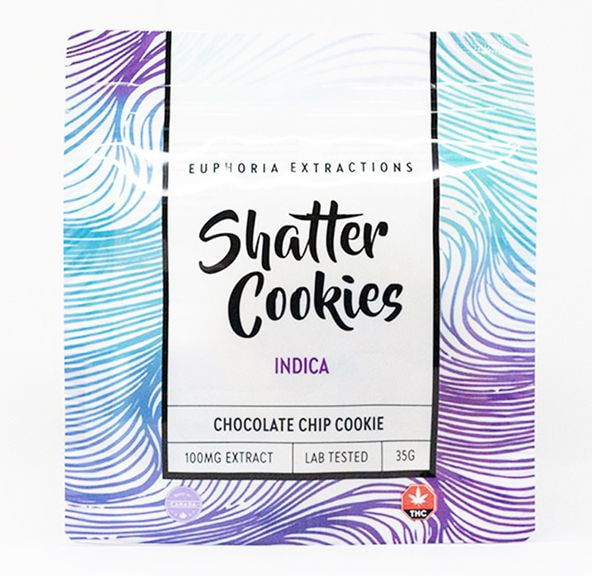 100mg Indica Shatter Cookie by Euphoria Extractions
