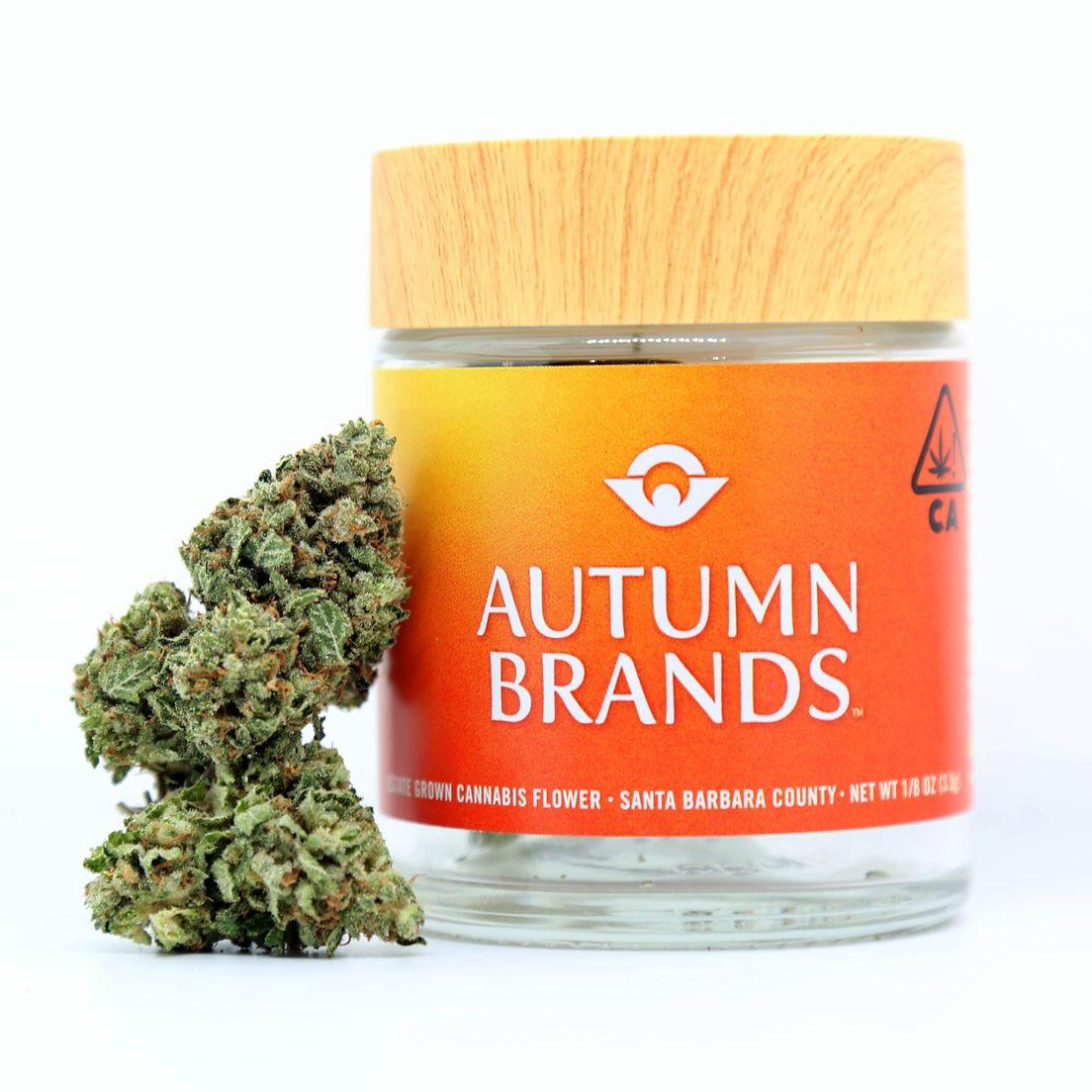B. Autumn Brands 3.5g Flower - Quality 8/10 - Strawberry Banana (~24%)