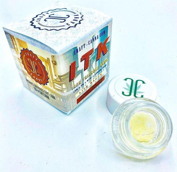IRON TRIANGLE KUSH 1g LIVE DIAMOND SAUCE CRAFT CANNA