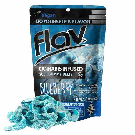 BLUEBERRY BELTS, Edible, 100mg - Flav