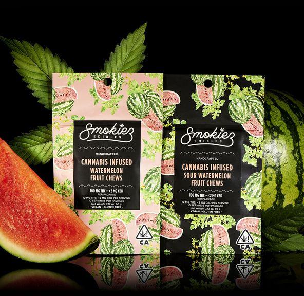 Smokiez Sour Watermelon Fruit Chews - CA