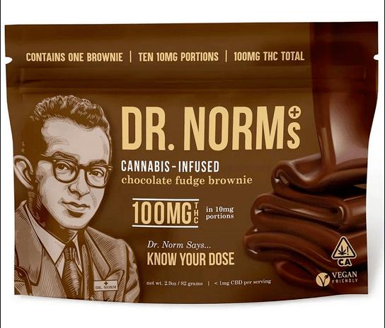 Dr. Norm's - Chocolate Fudge Brownie 100mg
