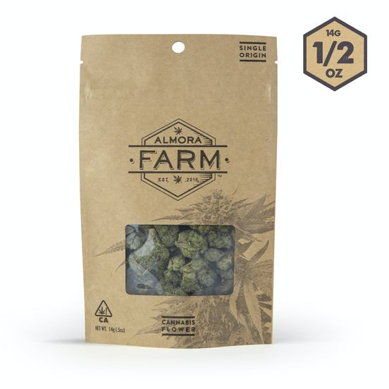 Almora Farms Sungrown 14g - Kush Mints 29%