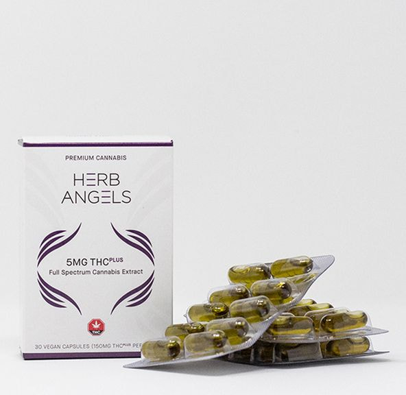 150mg (30x5mg) THC Plus (RSO) Capsules by Herb Angels