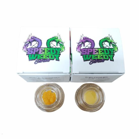 1. Speedy Weedy 1g Cured Resin Badder - Tequila Sunrise (S) 3/$60 Mix/Match