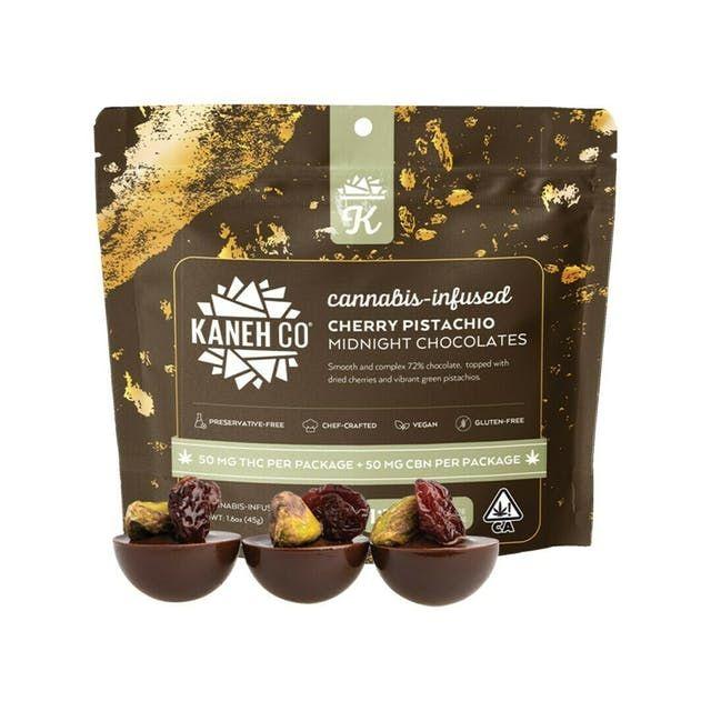1:1 CBN:THC Cherry Pistachio Midnight Chocolates