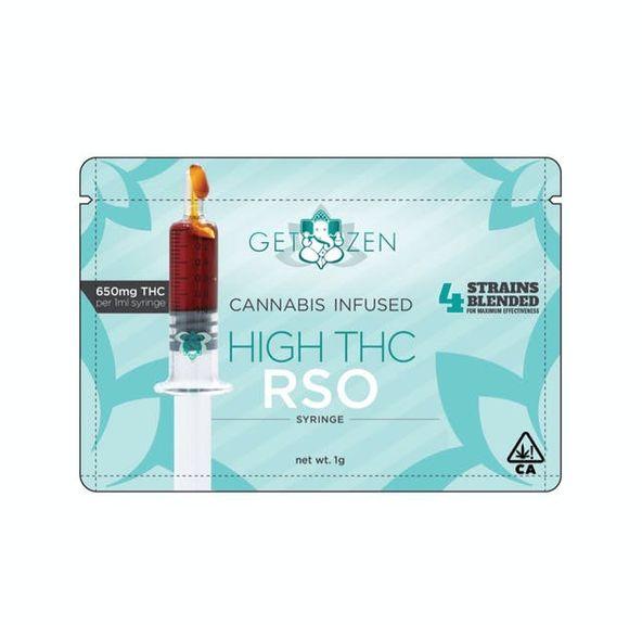 Get Zen - HIGH THC RSO 1g Syringe