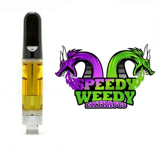 1. Speedy Weedy 1g THC Vape Cartridge - Cherry Pie (H) 3/$60 Mix/Match