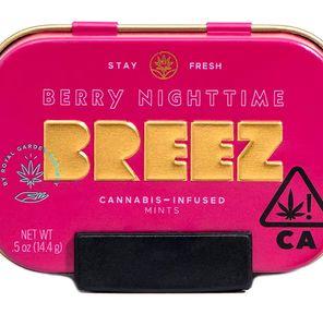 Breez - Berry Nighttime Mints THC 100MG + CBD 200MG
