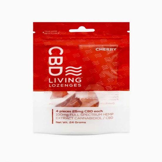 CBD Living Lozenges 100mg / 4 pcs - Cherry