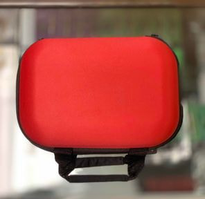 Glass Pipe Travel Case - Red