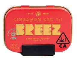Breez Cinnamon Mints CBD 100mg 1:1