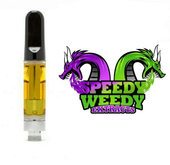 1. Speedy Weedy 1g THC Vape Cartridge - Blue Razz (H) 3/$60