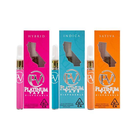 (PRE-ORDER ONLY) Bubba Kush - .4g (85.50%THC) Platinum Disposable Vape