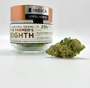 $50 4g 1/8 Black Forest Cake (25.89%/Indica) - Lowell Herb Co.
