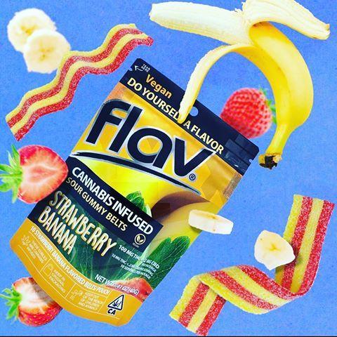 Flav Strawberry Banana Belts 100mg