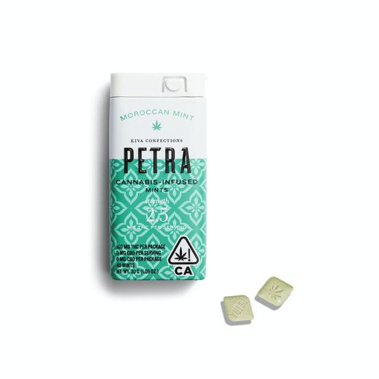KIVA - PETRA MINTS - Moroccan Mint - 100mg