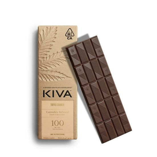 KIVA - Kiva Bar Dark Chocolate Toffee Crunch - 100mg