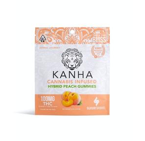 Kanha: Infused Gummies - Peach (Hybrid), 100mg