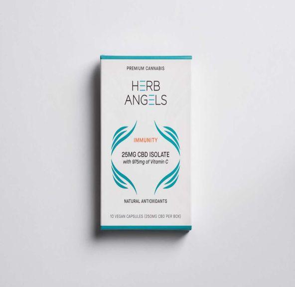 250mg (25mg x 10) CBD Immunity Capsules - Herb Angels