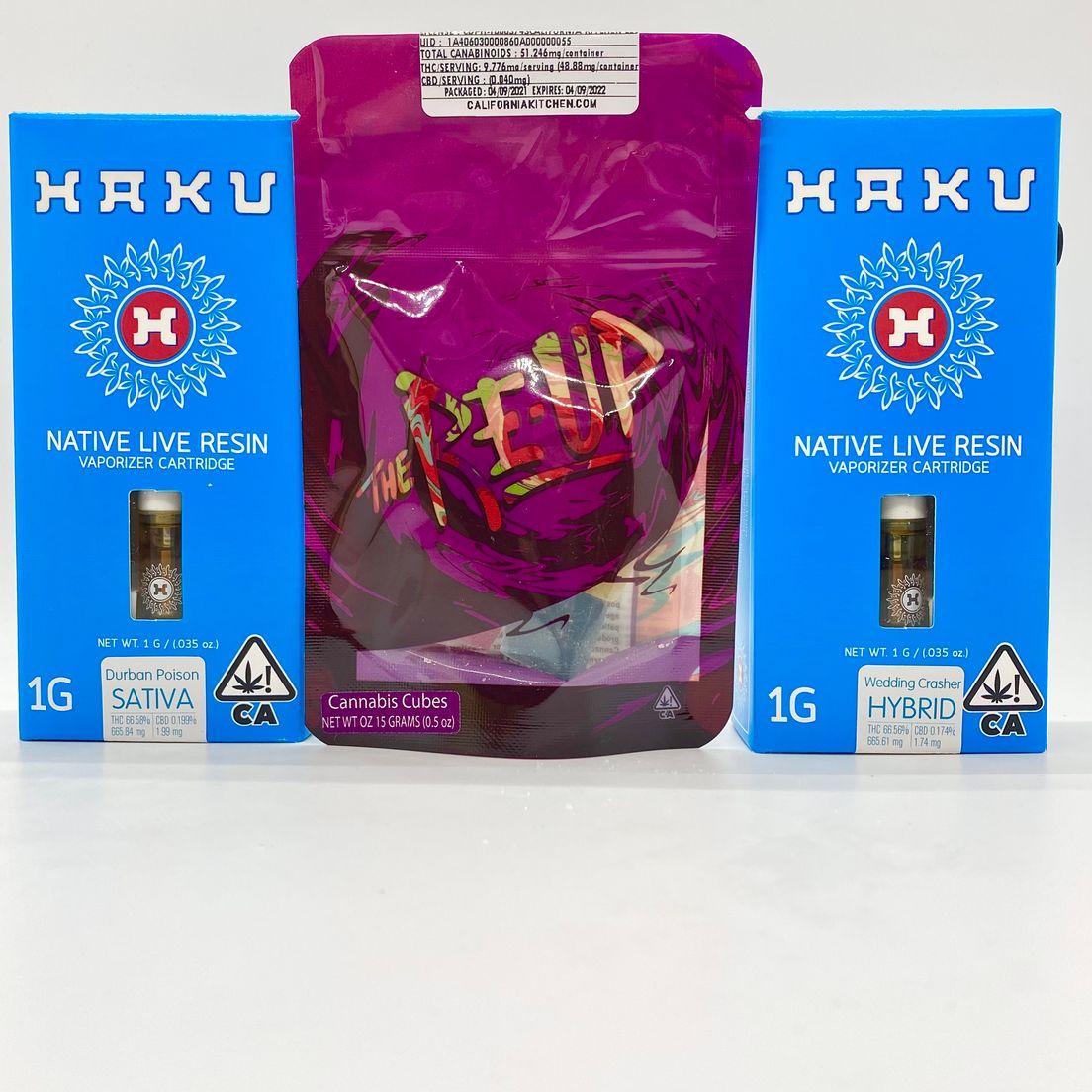 *Deal! $69 BOGO (2) Cartridges Mix n' Match - Haku ONLY + 50mg Fruit Cubes