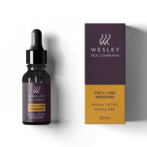1200mg CBD:THC 1:1 Infusion by Wesley Tea