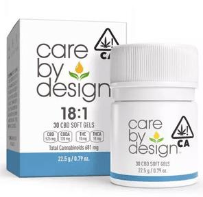 [Care by Design] CBD Soft Gels - 18:1 - 30ct