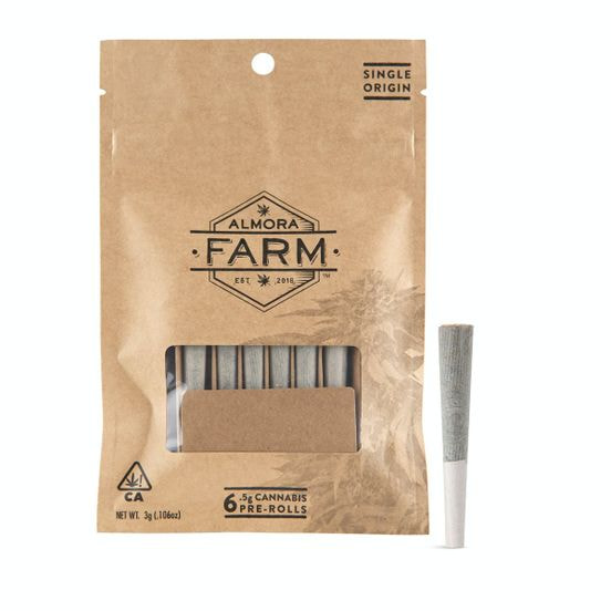 Almora Farms Sour Berry .5g - 6 Pack Pre Rolls 28%