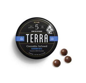 100mg Milk Chocolate Blueberries TERRA Bites - KIVA