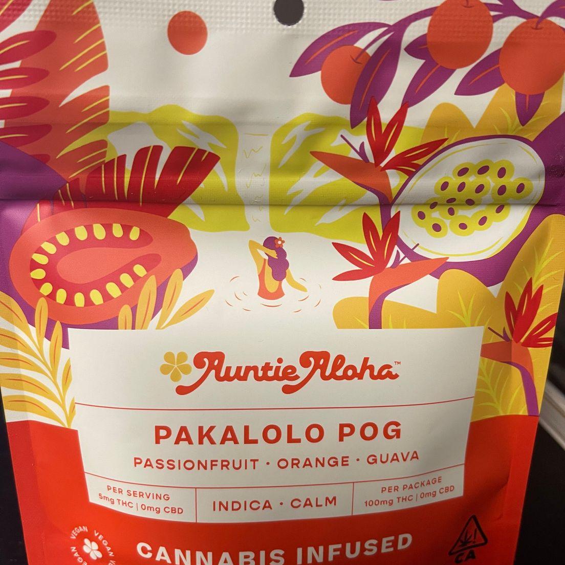 Auntie Aloha Pakalolo Pog 100mg Gummies