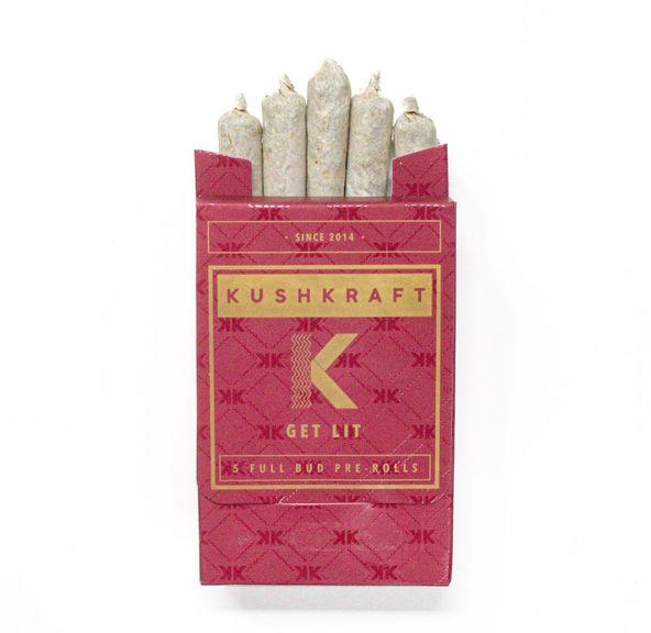 5 x 0.6g Pre Roll Pack Sativa by KushKraft
