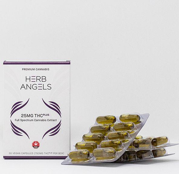 750mg (30x25mg) THC Plus (RSO) Capsules by Herb Angels
