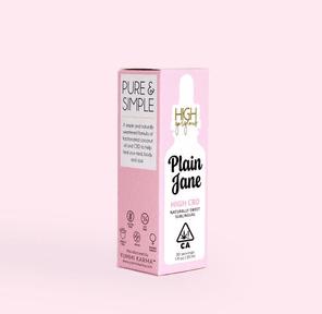 High Gorgeous: Plain Jane CBD Cannabis Drops, 600mg