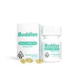 Buddies THC Gelcaps - 10mg - 60ct
