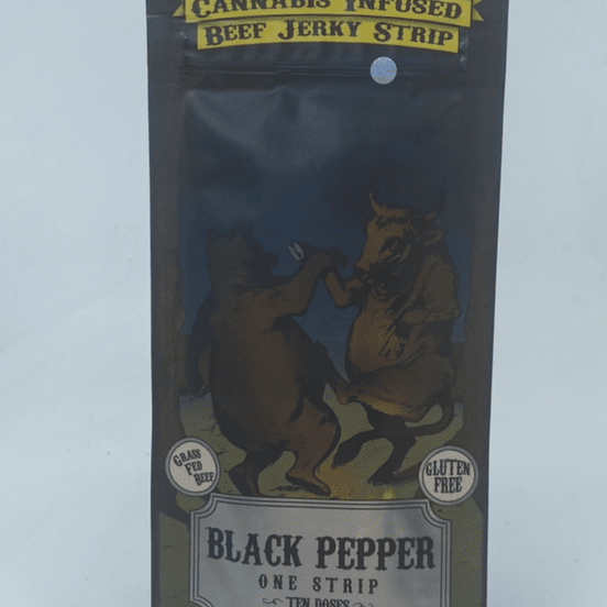 Cracked Pepper - Beef Jerky Strip (THC 100mg) by Stoned Age Edible Company