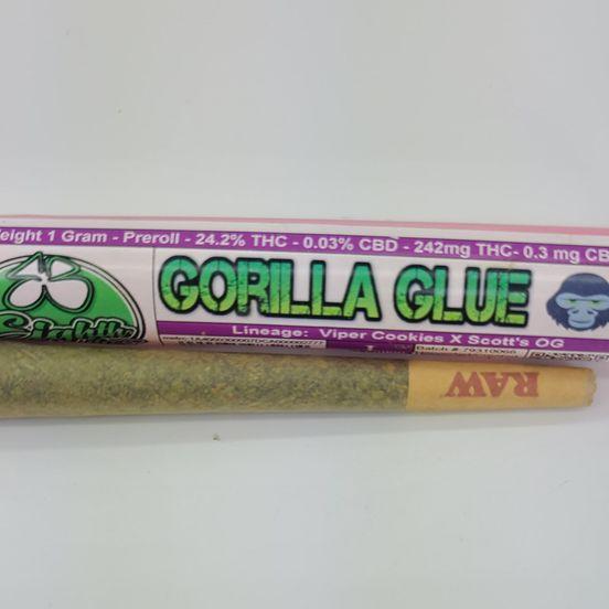Gorilla Glue - 1g Preroll (THC 24.2%) by 8th Bros