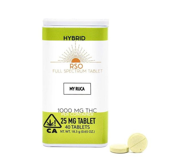 25mg Tablets- Hybrid - My Ruca - 1000mg Package Emerald Bay Extracts