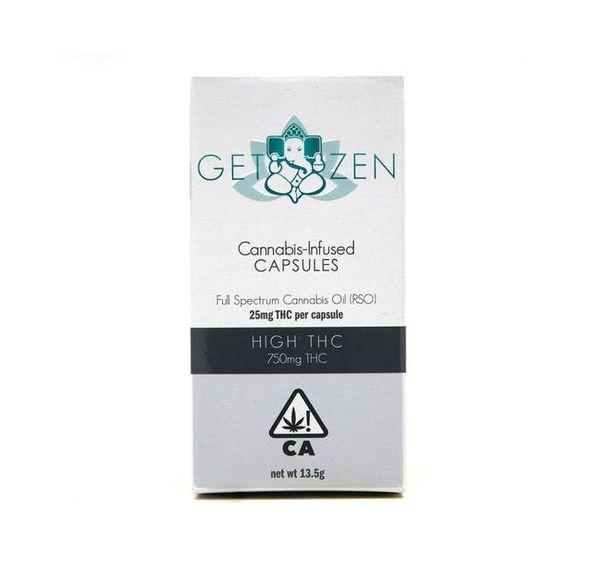 Get Zen - High THC Capsules 30ct Bottle - 750mg THC
