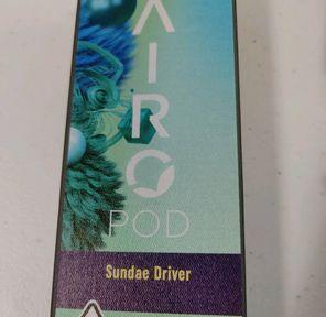AiroPod | Sundae Driver L.R Series | Indica | Cartridge | 1g | 91.22% THC
