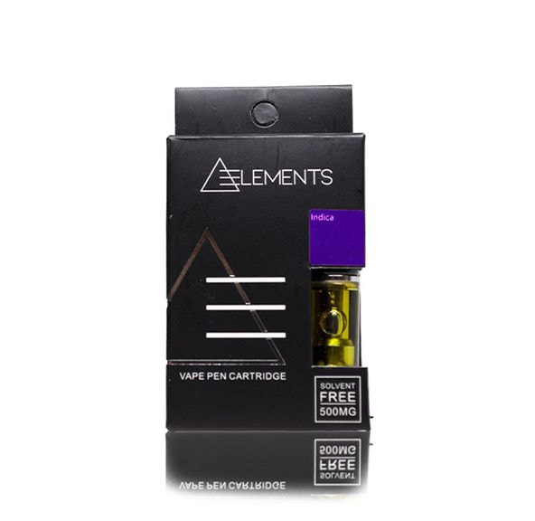 500mg THC Indica Vape Cartridge by Elements