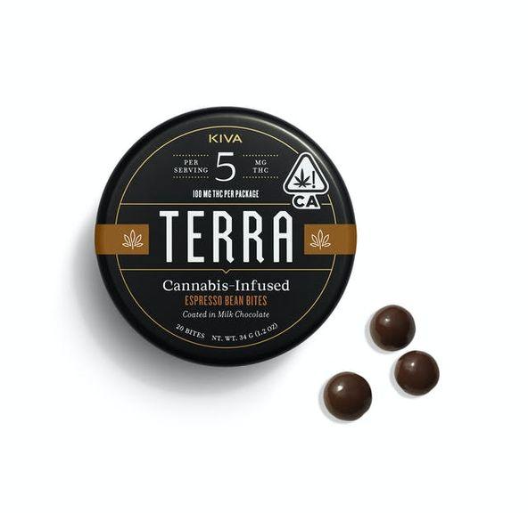 KIVA - Terra Bites Dark Chocolate Espresso Beans - 100mg
