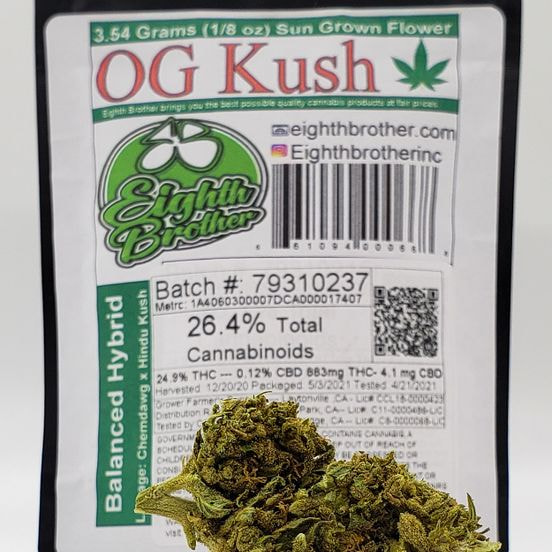 1/8 OG Kush (24.9%/Hybrid) - Eighth Brother